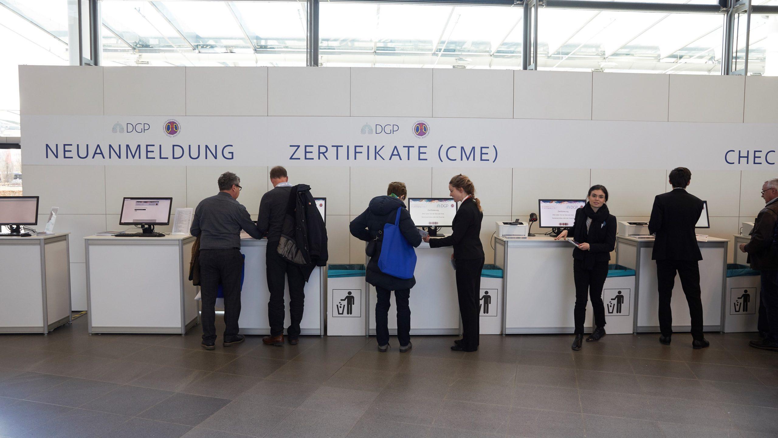 Zertifikate vor Ort CME Kongress