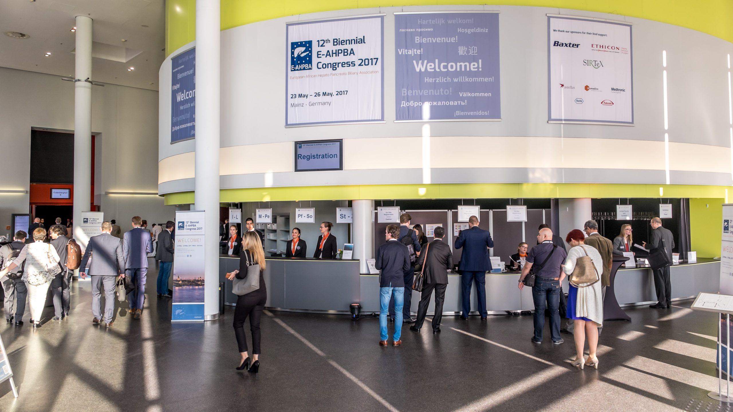 Teilnehmerregistrierung Kongresse E-AHBPA 2017