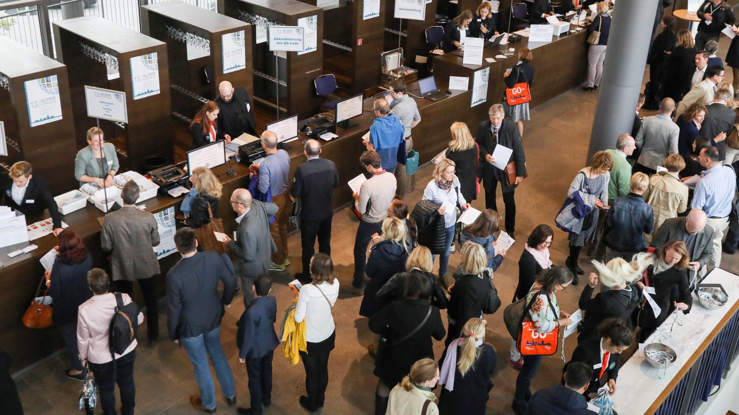 Registrierung Teilnehmer Kongresse
